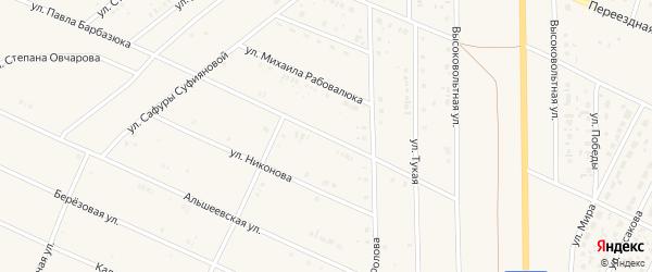 Улица П.Барбазюка на карте села Раевского с номерами домов
