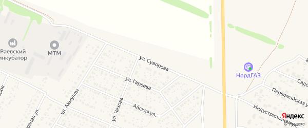 Улица Суворова на карте села Раевского с номерами домов