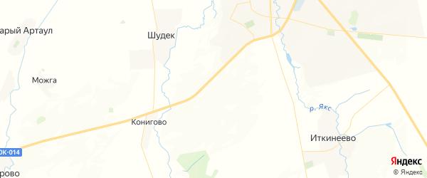 Карта Ижболдинского сельсовета республики Башкортостан с районами, улицами и номерами домов