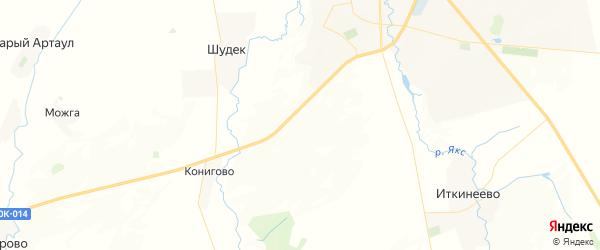 Карта Истякского сельсовета республики Башкортостан с районами, улицами и номерами домов