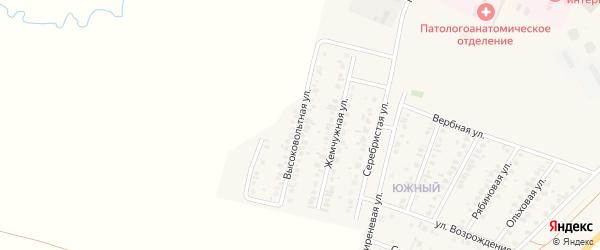 Высоковольтная улица на карте Янаула с номерами домов