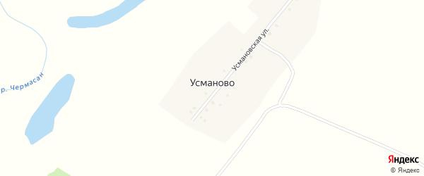Усманская улица на карте деревни Усманово с номерами домов