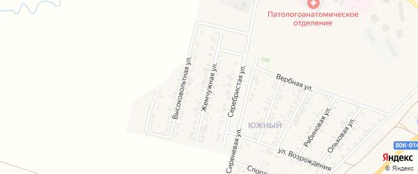 Жемчужная улица на карте Янаула с номерами домов