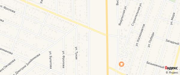 Высоковольтная улица на карте села Раевского с номерами домов
