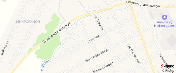 Пионерская улица на карте Янаула с номерами домов