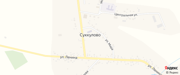 Садовая улица на карте села Суккулово с номерами домов