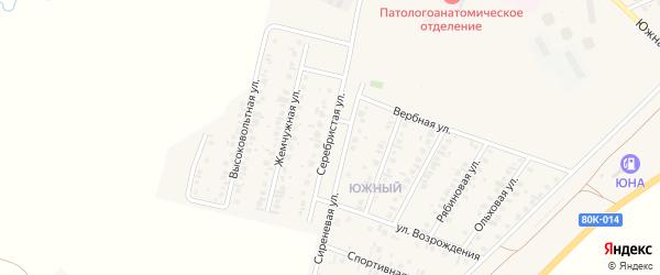 Серебристая улица на карте Янаула с номерами домов