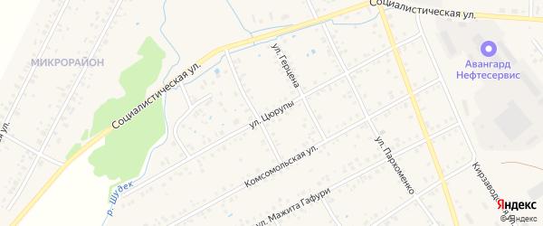 Улица Цюрупы на карте Янаула с номерами домов