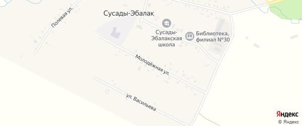 Молодежная улица на карте села Сусады-Эбалак с номерами домов