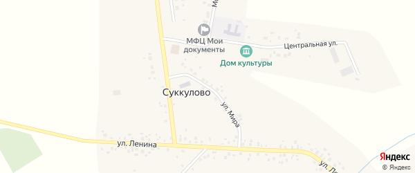 Улица Мира на карте села Суккулово с номерами домов