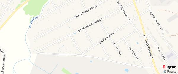 Переулок М.Гафури на карте Янаула с номерами домов
