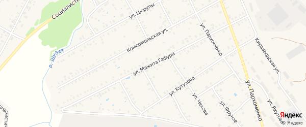 Улица М.Гафури на карте Янаула с номерами домов