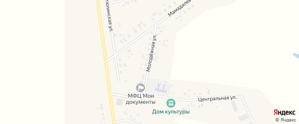 Молодежная улица на карте села Суккулово с номерами домов