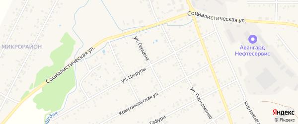 Улица Герцена на карте Янаула с номерами домов