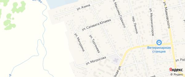 Улица Тургенева на карте Янаула с номерами домов