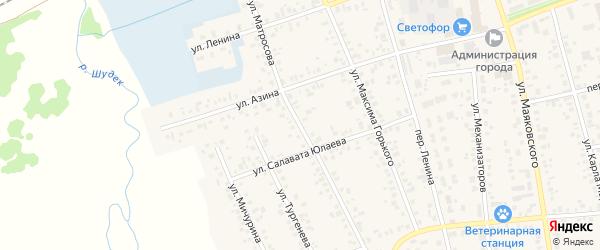 Улица Матросова на карте Янаула с номерами домов