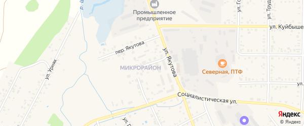 Переулок Якутова на карте Янаула с номерами домов