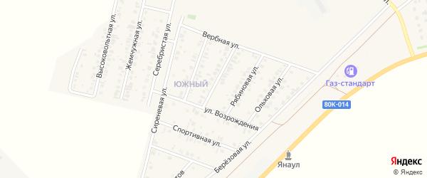 Улица Возрождения на карте Янаула с номерами домов