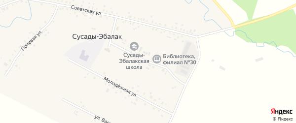 Комсомольская улица на карте села Сусады-Эбалак с номерами домов