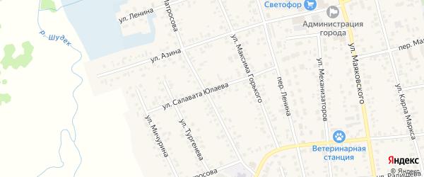 Улица С.Юлаева на карте Янаула с номерами домов