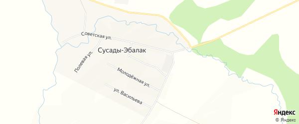 Карта села Сусады-Эбалак в Башкортостане с улицами и номерами домов