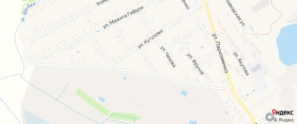 Переулок Чехова на карте Янаула с номерами домов