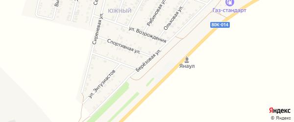 Березовая улица на карте Янаула с номерами домов