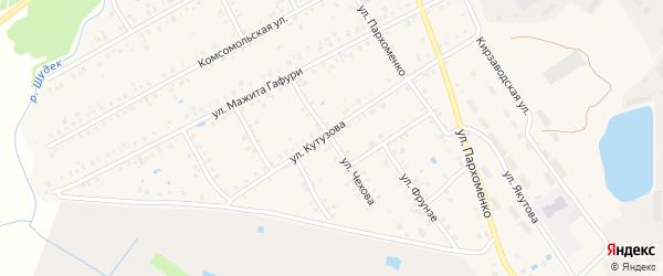 Улица Чехова на карте Янаула с номерами домов