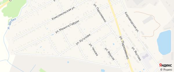 Улица Кутузова на карте Янаула с номерами домов