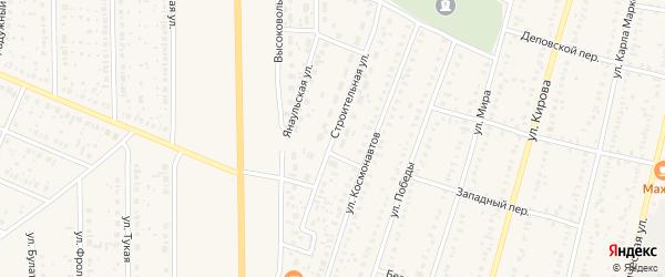 Строительная улица на карте села Раевского с номерами домов