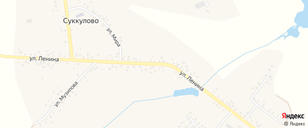 Улица Ленина на карте села Суккулово с номерами домов