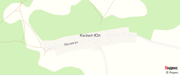 Лесная улица на карте деревни Кызыла Юл с номерами домов