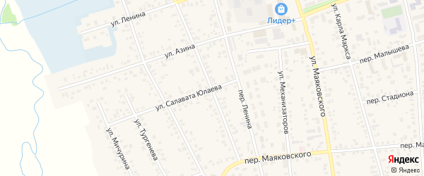 Улица М.Горького на карте Янаула с номерами домов