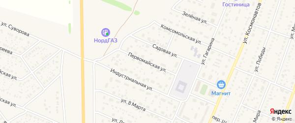 Первомайская улица на карте села Раевского с номерами домов