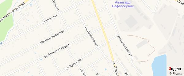 Улица Пархоменко на карте Янаула с номерами домов