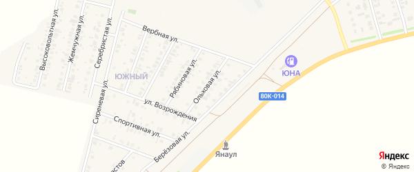 Ольховая улица на карте Янаула с номерами домов