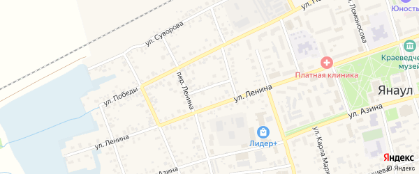 Улица Гагарина на карте Янаула с номерами домов