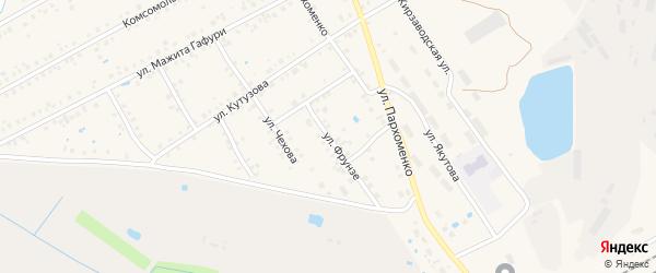 Улица Фрунзе на карте Янаула с номерами домов