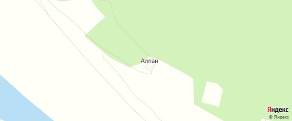 Карта деревни Алпана в Башкортостане с улицами и номерами домов