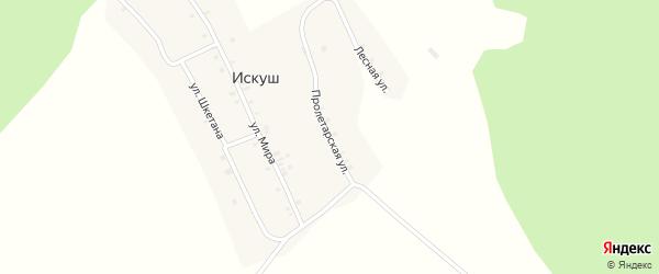Пролетарская улица на карте села Искуша с номерами домов