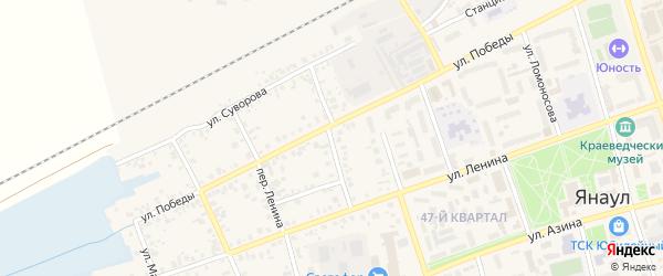 Улица Чайковского на карте Янаула с номерами домов