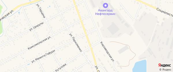 Улица Якутова на карте Янаула с номерами домов