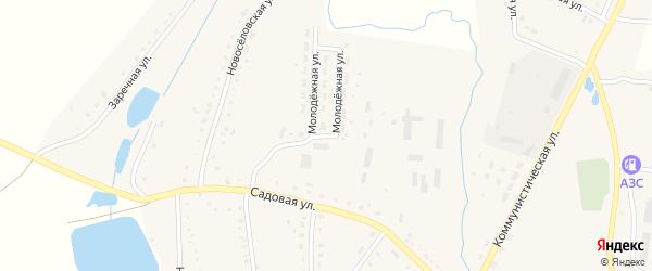 Молодежная улица на карте села Благовара с номерами домов