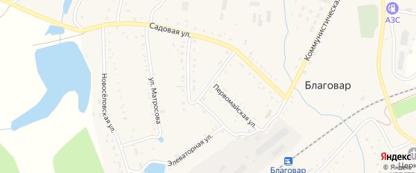 Трансформаторная улица на карте села Благовара с номерами домов