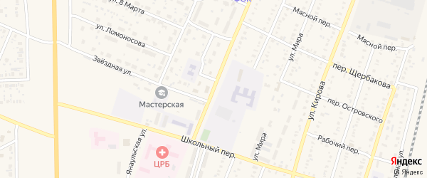 Улица Космонавтов на карте села Раевского с номерами домов