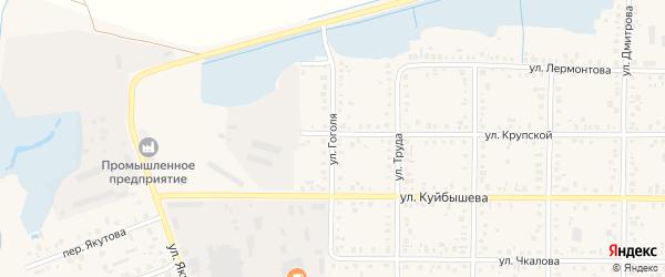 Улица Гоголя на карте Янаула с номерами домов