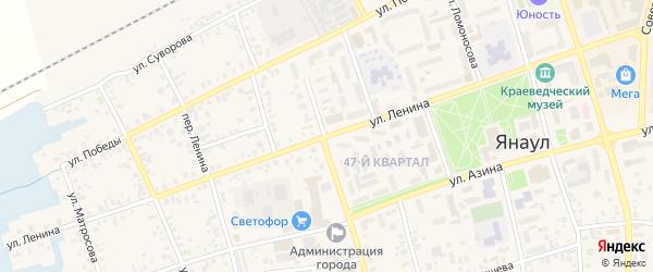 Улица Ленина на карте Янаула с номерами домов