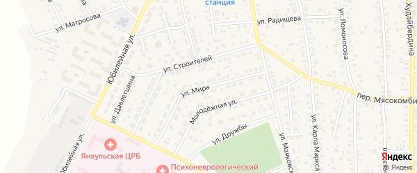 Улица Мира на карте Янаула с номерами домов