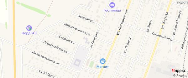 Улица Гагарина на карте села Раевского с номерами домов