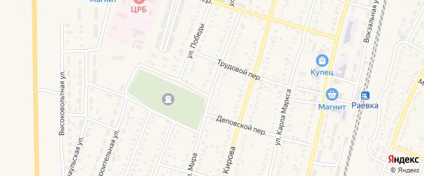 Улица Мира на карте села Раевского с номерами домов
